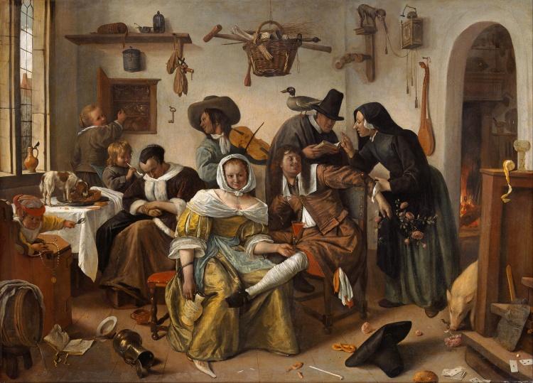 Het SchrijfCafé - Oorsprong van Woorden - Huishouden van Jan Steen