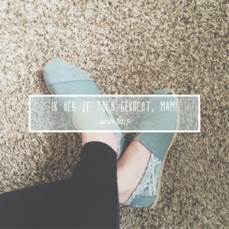 Six Word Story van gisteren! Na lang twijfelen heb mezelf tóch verwend met een paar prachtige TOMS! Zulke fijne schoentjes!
