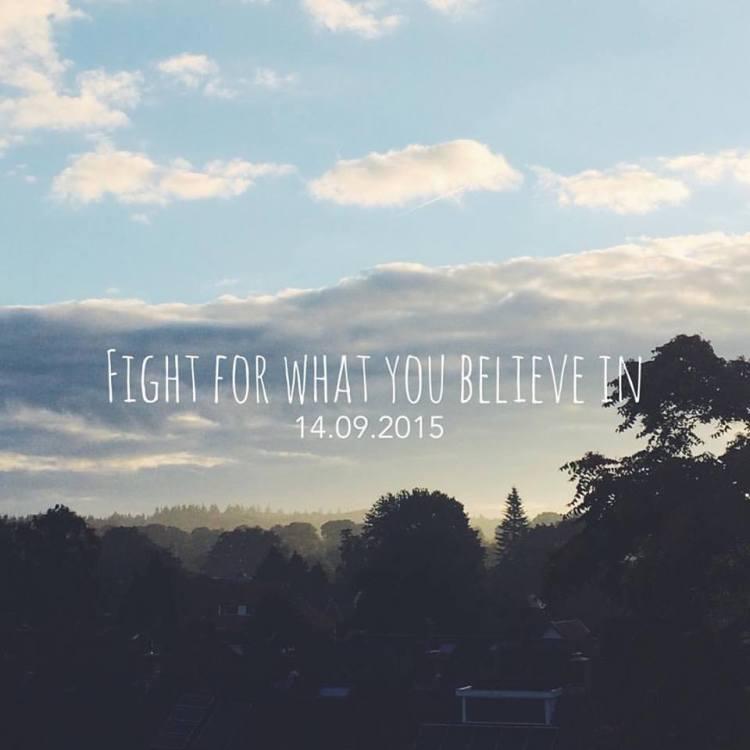 Het SchrijfCafé - Six Word Story - 14.09.2015 - Fight for what you believe in