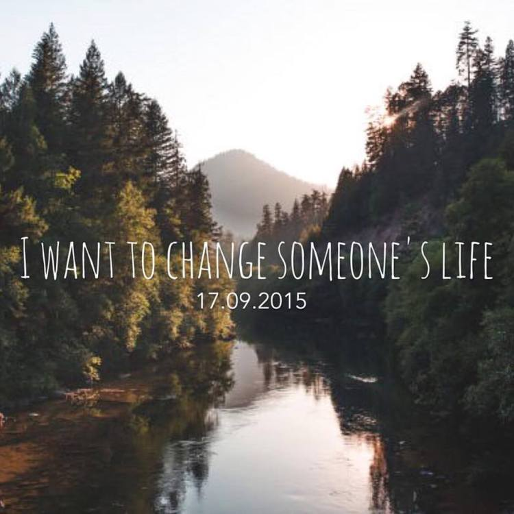 Het SchrijfCafé - Six Word Story - 17.09.2015 - I want to change someone's life