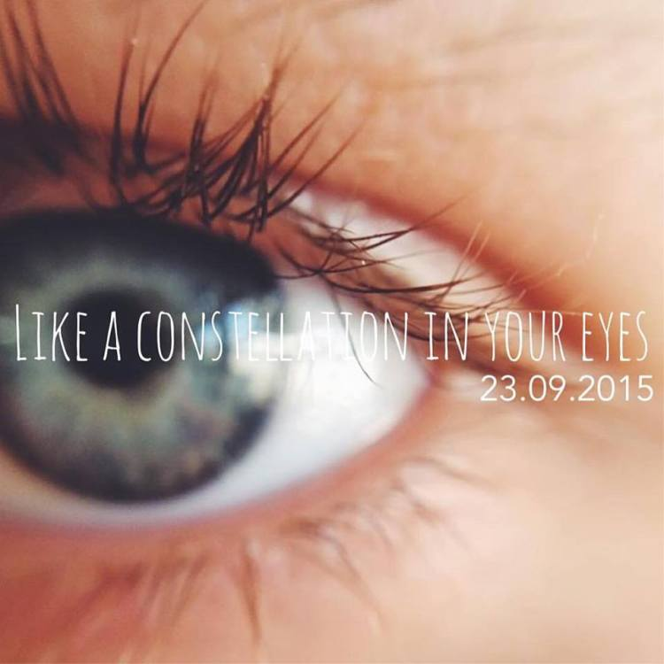 Het SchrijfCafé - Six Word Story - 23.09.2015 - Like a constellation in your eyes