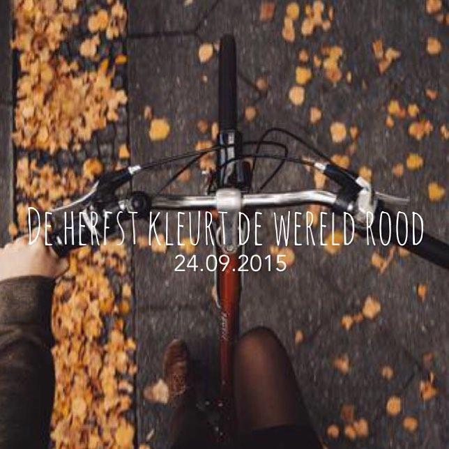 Het SchrijfCafé - Six Word Story - 24.09.2015 - De herfst kleurt de wereld rood