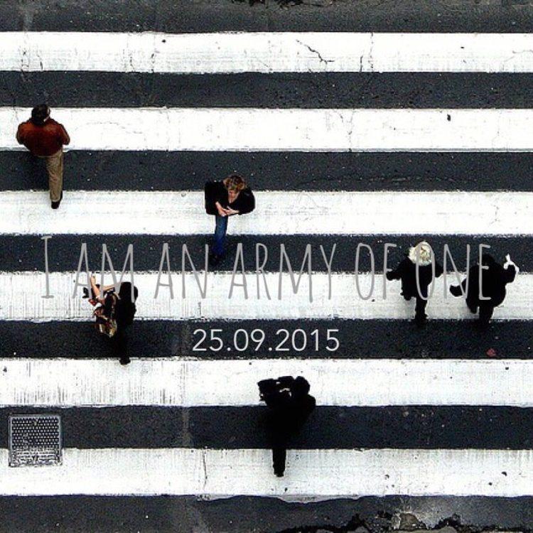 Het SchrijfCafé - Six Word Story - 25.09.2015 - I am an army of one